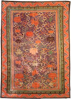 A Silk Chinese carpet BB3994