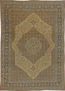 Antique Persian Tabriz Rug 12x7 BB5465