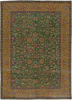 Antique Persian Tabriz Rug 13x10 BB5464