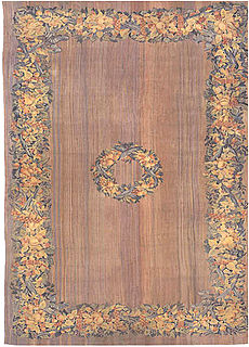 A flat-woven Aubusson rug BB0178
