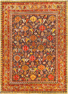 An antique Turkish Oushak rug BB4455