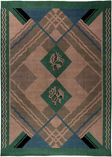 A Chinese Deco Rug BB5399