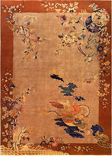 A Chinese Deco Rug BB5193