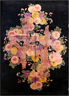 A Chinese Deco rug BB2894
