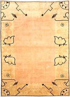 A Chinese Deco rug BB4042