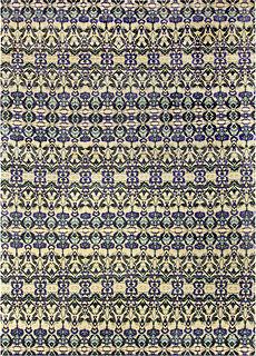 Natale Cerulean Silk Rug N10616