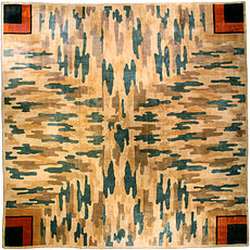 A Chinese Deco rug (size adjusted) BB3083
