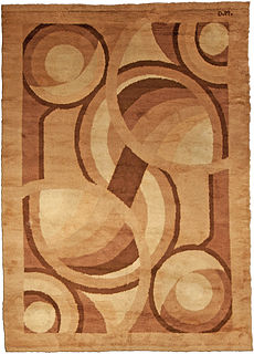 An French Deco Rug by D.I.M.