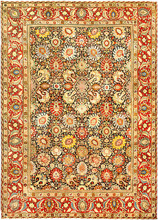 A Persian Tabriz rug (size adjusted) BB4776