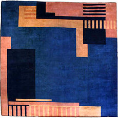 A Chinese Deco rug BB2755