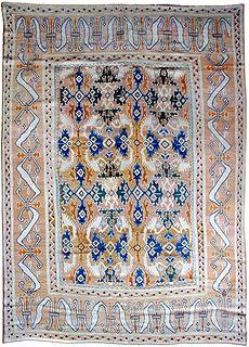 A Spanish Quenca rug BB1009