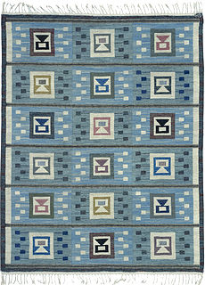 A Swedish flat woven Rug by Edna Martin BB4722
