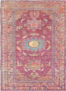 A Silk Samarkand (Khotan) rug BB4367