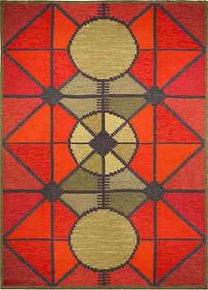 A Swedish Flat Woven (Sverige R�lakan) rug