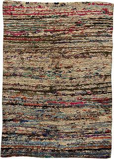 A Vintage Moroccan Rag Rug BB5479