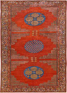 A silk Samarkand (Khotan) rug BB4577
