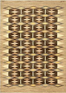 A Swedish Flat woven rug (Sverige matta)
