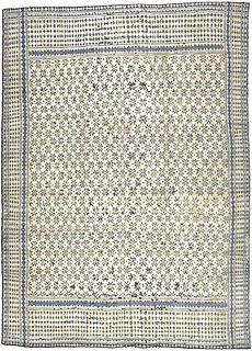 A Spanish flat woven rug BB2325