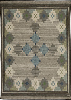 A Swedish Flat Weave Rug by Ulla Parkdahj BB5458