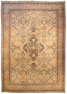 A Persian Kirman carpet