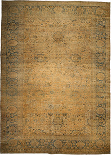 A Persian Kirman rug