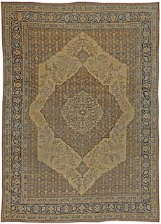 Antique Persian Tabriz Rug 12x7 BB5465