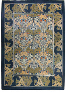 An Arts and Crafts Voysey rug BB2514