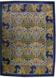 An Arts and Crafts Voysey rug BB2515
