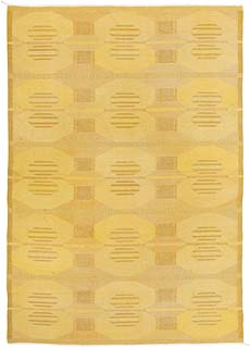A Swedish Flat Weave Rug Signed KH BB5389