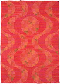 A Swedish Flat Weave Rug Signed VB BB5394