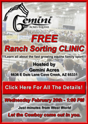 RAIN OR SHINE - RANCH SORTING CLINIC WED! @ 1PM