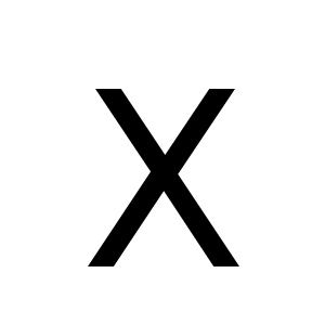X | DejaVu Sans, Book