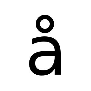 å | DejaVu Sans, Book