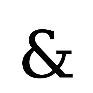 & | DejaVu Serif, Book