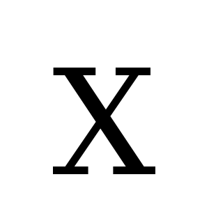 X | DejaVu Serif, Book