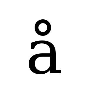 å | DejaVu Serif, Book