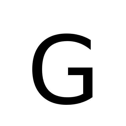 DejaVu Sans, Book - G