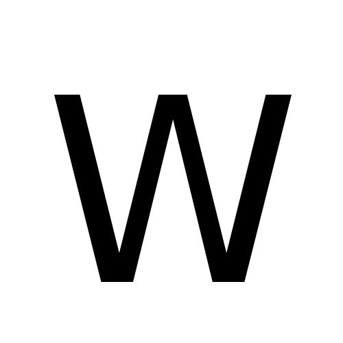 DejaVu Sans, Book - W