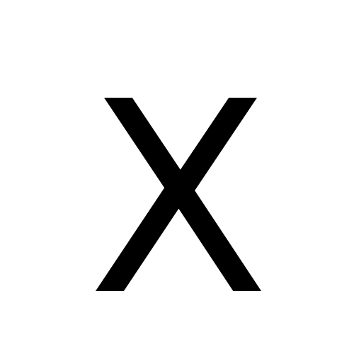 X | latin capital letter x | DejaVu Sans, Book @ Graphemica