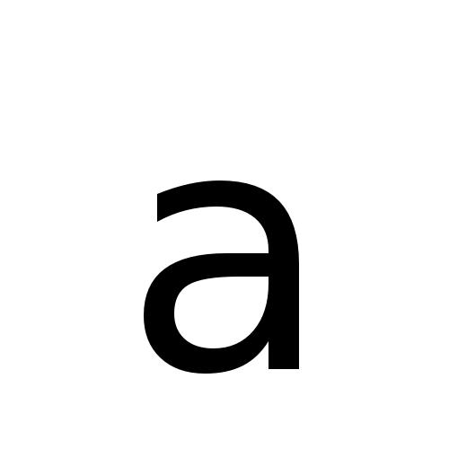 DejaVu Sans, Book - a