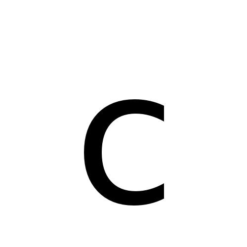 C Latin Small Letter C Dejavu Sans Book Graphemica