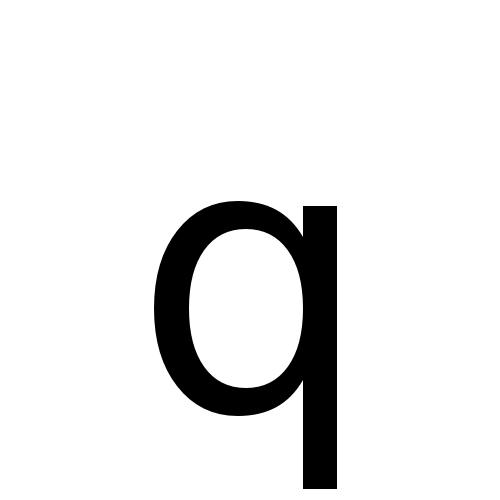 DejaVu Sans, Book - q