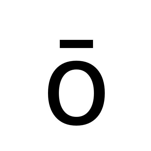 DejaVu Sans, Book - ō