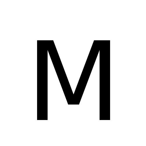 DejaVu Sans, Book - Μ