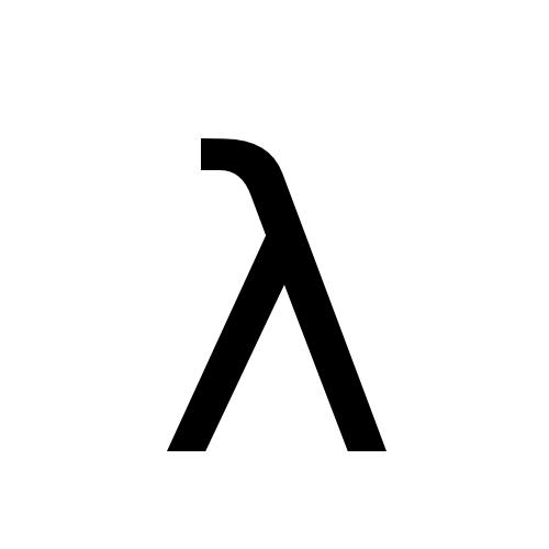 DejaVu Sans, Book - λ