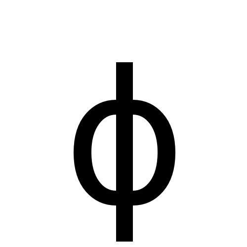 DejaVu Sans, Book - ϕ