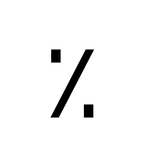 DejaVu Sans, Book - ٪