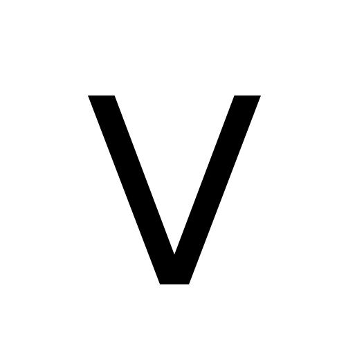 DejaVu Sans, Book - ᐯ