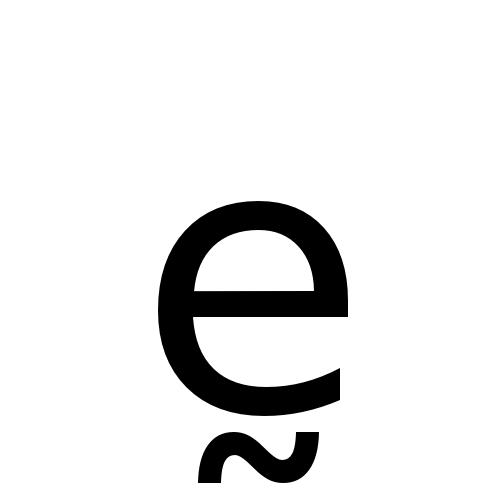 DejaVu Sans, Book - ḛ