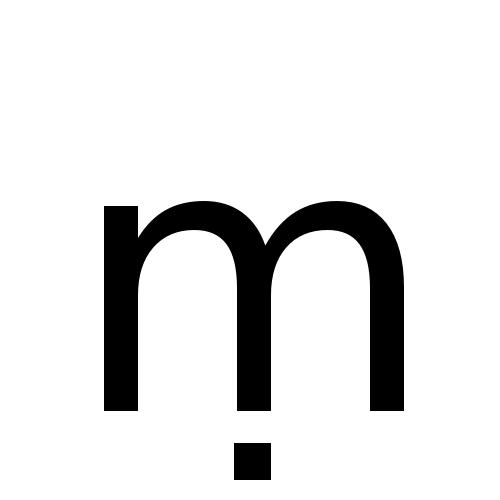 DejaVu Sans, Book - ṃ